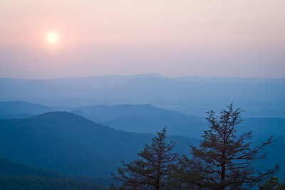 Sunset at Arnold Valley View ~ Blue Ridge Parkway ~ June 2003